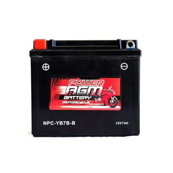 NPC-YB7B-B | AGM Motorcycle Battery
