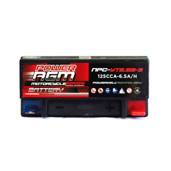 NPC-YT6.5B-3 | AGM Motorcycle Battery