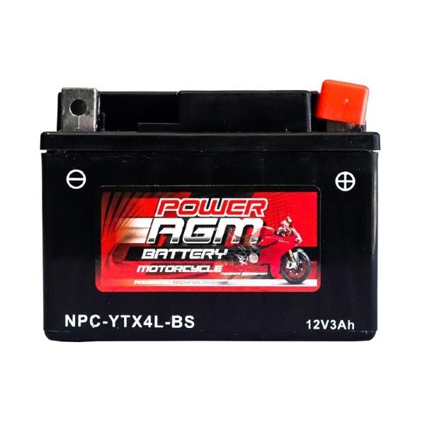 Motorcycle Battery | NPC-YTX4L-BS | Power AGM