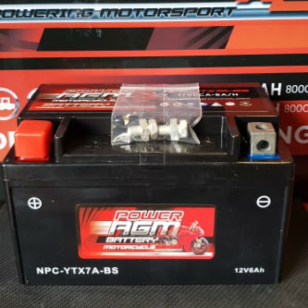 NPC-YTX7A-BS - Motocycle Battery - Power AGM