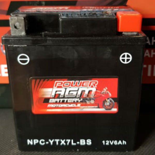 NPC-YTX7L-BS - Motocycle Battery - Power AGM