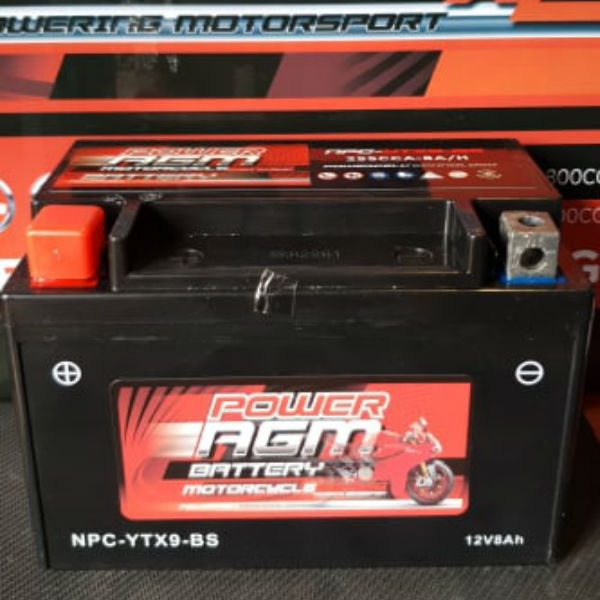NPC-YTX9-BS - Motocycle Battery - Power AGM