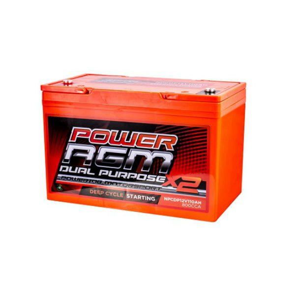 AGM Dual Purpose Battery | NPCDP12V-110AH | Power AGM