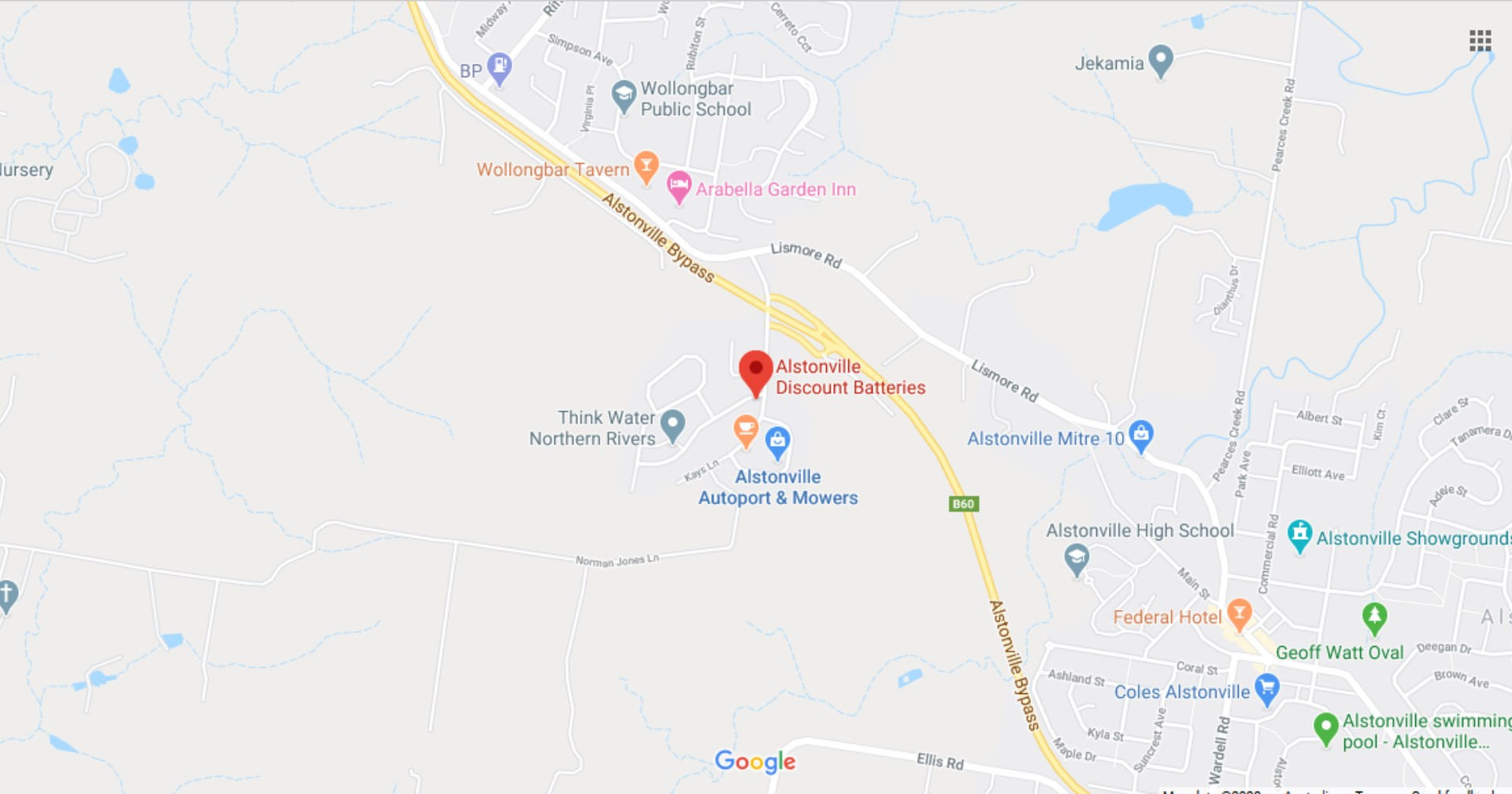 Alstonville Discount Batteries - Google Map